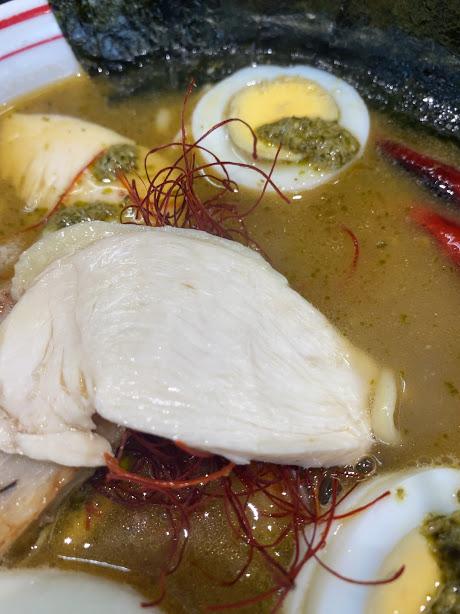 特製アサリそばの鶏チャーシュー