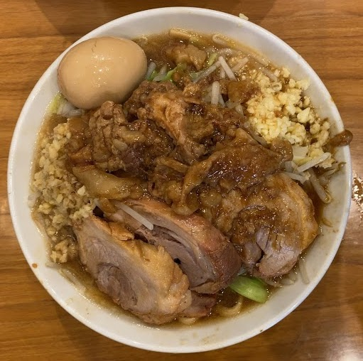 淵野辺の麺屋歩夢・小ラーメン航空写真