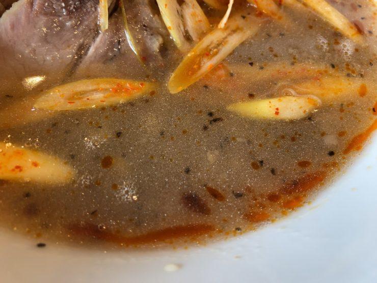 ピコピコポンの塩つけ麺が着丼4