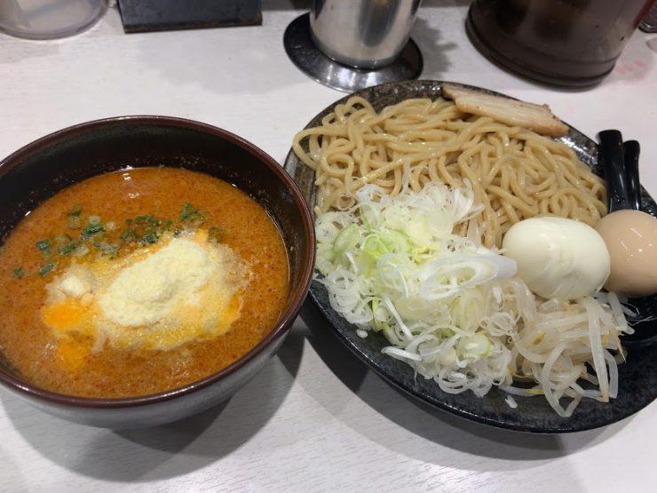 蒙古タンメン中本東池袋店で冷し肉醤麺1