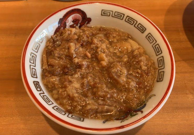 ラーメン豚山東長崎店の肉かすあぶら