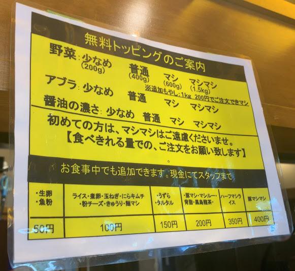 立川マシマシOGKB(荻窪)店・案内