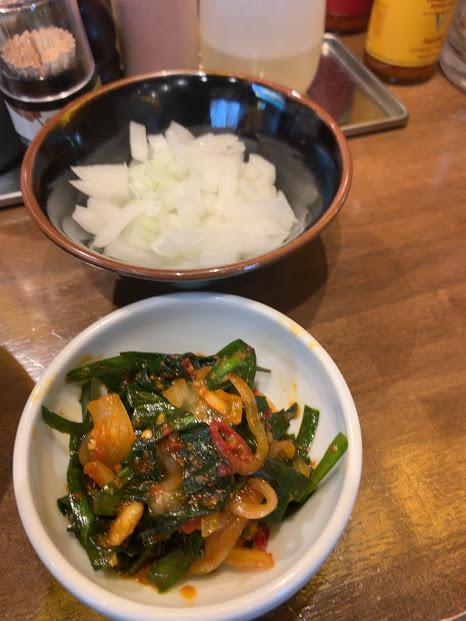立川マシマシOGKB(荻窪)店・玉ねぎ&ニラキムチ