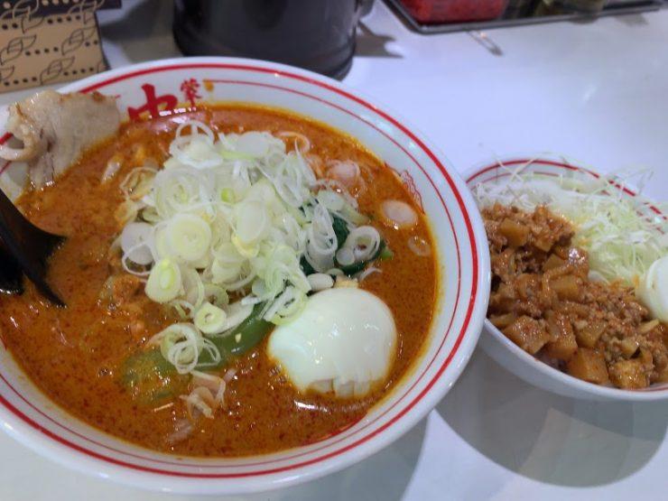 中本・北極担々麺、セット