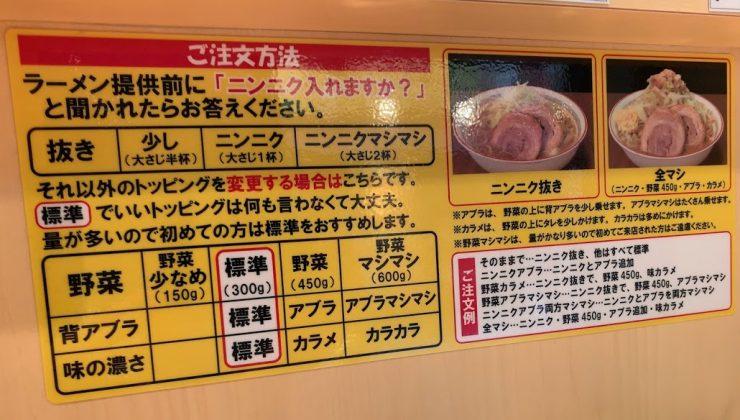 ラーメン豚山中野店で汁なし-コール1