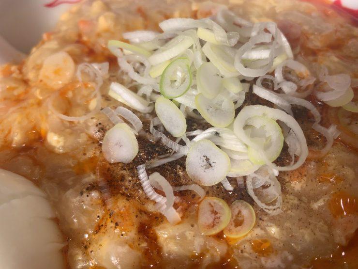 中本川越店で酸辣湯麺・ネギ&花椒
