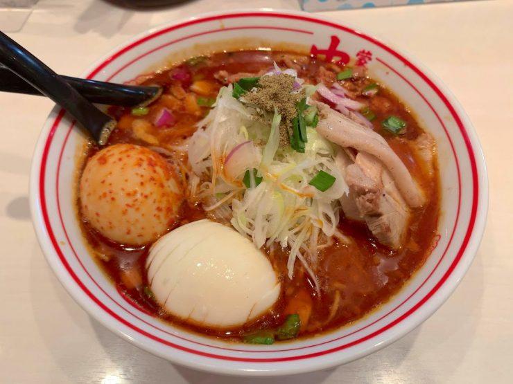 勝浦風トンタン麺(辛さ2倍)